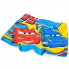 Cute Cars McQueen Pattern Swimming Trunks Shorts Swimwear for Children Kids - Red + Blue
