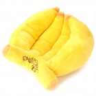 Banana Shaped Plush Doll Toy with Sound Effect for Pet - Yellow
