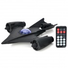 Cool Fighter Plane Style Rechargeable MP3 Player Speaker w/ FM / USB / SD Slot - Black