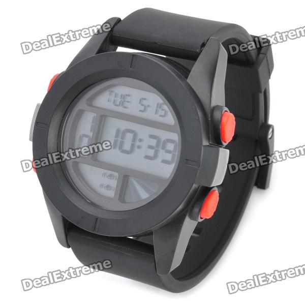 Outdoor Sports Wrist Watch with Time/Date/Stopwatch/Alarm - Black (1 x CR2025)