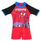 Cute Spider-Man Style Swimwear Swimsuit for Children Kids - Red (Size S)