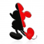 Fashion 3D Mickey Style Car Decoration Sticker - Black + Red
