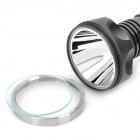 NEW-662 Cree XM-L T6 860LM 5-Mode White Flashlight - Grey + Silver (2 x 18650)