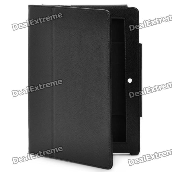 Elegant Protective PU Leather Case for Sony S1 - Black