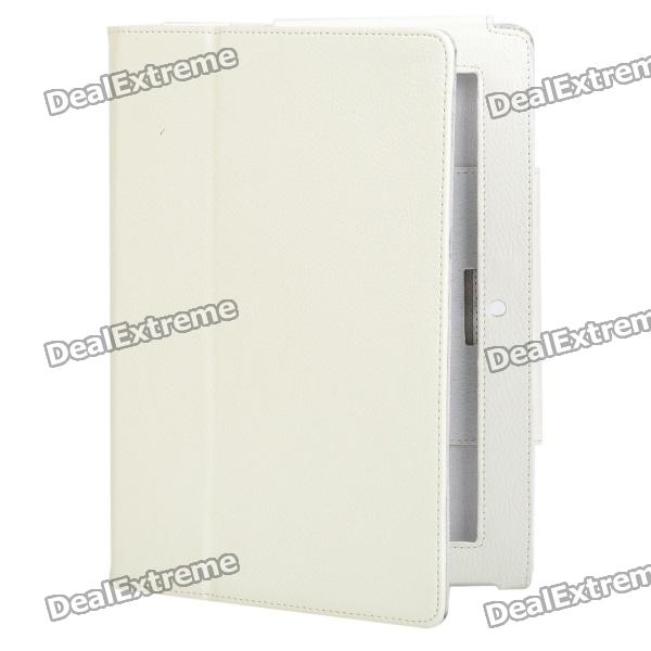 Protective PU Leather Holder Case for Sony S1 - White
