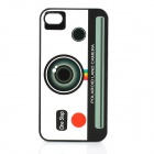 Novelty Camera Pattern ABS Back Case for Iphone 4 / 4S - Black + White