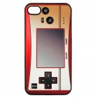 Retro Game Console Pattern ABS Back Case for Iphone 4 / 4S - Orange + Red