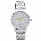 Men's Fashion Metal Quartz Wrist Watch - Silver (1 x 377)