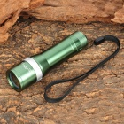 Multi-Battery Powered 150LM 3-Mode White Flashlight - Green