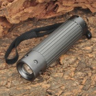 NEW-303 250LM 3-Mode White Flashlight - Silver Grey (3 x AAA)