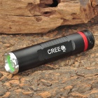 NEW-515 XP-E R2 250LM 3-Mode White Flashlight - Black (1 x 14500 / 1 x AA)