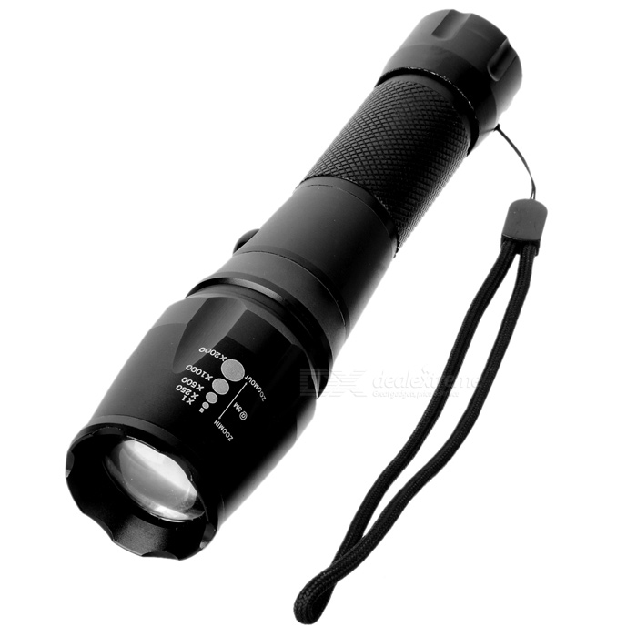 NEW-X6 900LM 5-Mode White Flashlight - Black (1 x 18650 / 3 x AAA)