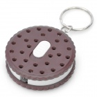 Biscuit Style Keychain with White LED Light (3 x LR41)