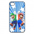 Cute Super Mario Brothers Style Protective PC Back Case for Iphone 4 / 4S - Blue + Green