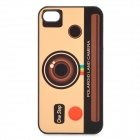Vintage Polaroid Land Camera Style Protective PC Back Case for Iphone 4 / 4S - Yellow + Brown