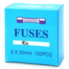 10A Ceramic Tube Fuse Set (100-Piece Pack / 6 x 30mm)