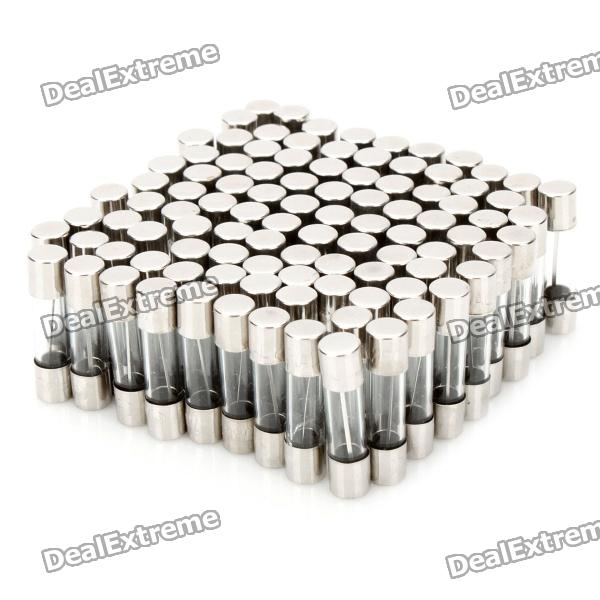 7A Glass Tube Fuse Set (100-Piece Pack / 5 x 20mm)