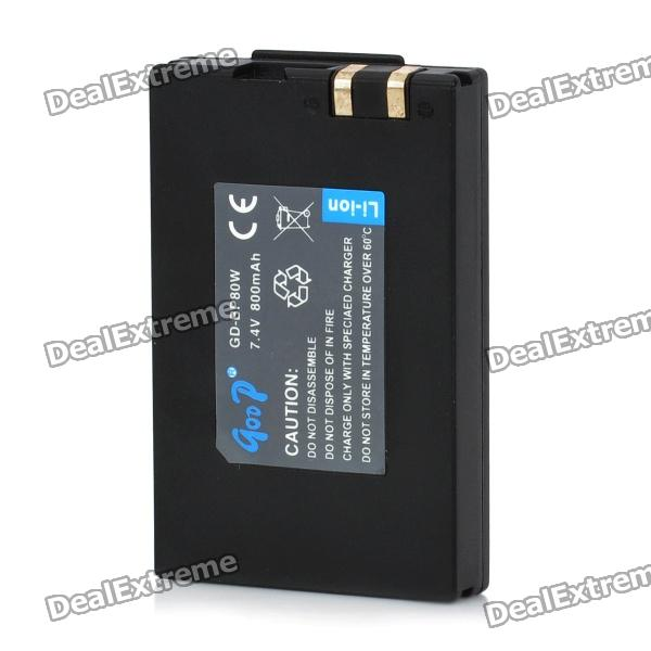 Replacement BP80W 7.4V 800mAh Lithium Battery for Samsung IA-BP-80W + More - Black bp 208 compatible 850mah battery pack for canon mvx1sidc10 dc20 more