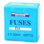15A tubo cerâmico Fuse Set (100-Piece Pack / 6 x 30 mm)