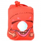 Push-and-Laugh Doll Bag - Red