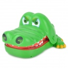 Funny Crocodile Mouth Dentist Bite Finger Game Toy - Green