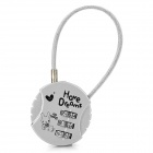 Mini Combination Lock for Luggage / Bag / Suitcase - Silver