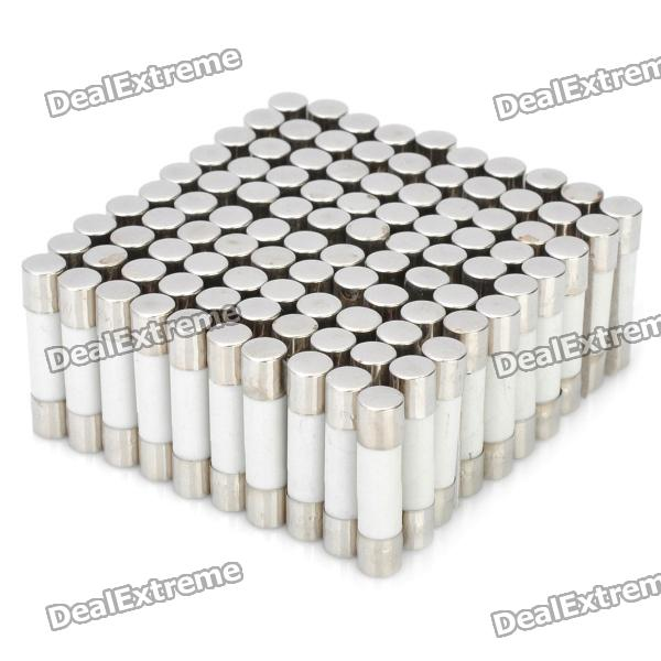 6A Ceramic Tube Fuse Set (100-Piece Pack / 5 x 20mm)