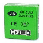 Tubo de cristal del fusible 6A Set (100-Piece Pack / 5 x 20 mm / F)