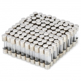 10A Glass Tube Fuse Set (100-Piece Pack / 5 x 20mm)