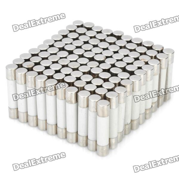 8A Ceramic Tube Fuse Set (100-Piece Pack / 6 x 30mm) ceramic 4 piece stacking