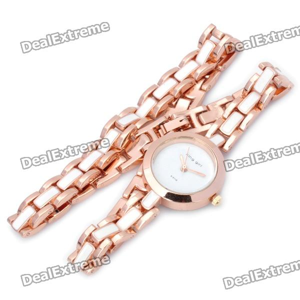 Fashion Decorative Rose Gold Quartz Wrist Watch - Golden (1 x 377 Battery) 40mm corgeut white sterile dial rose gold case miyota automatic mens watch