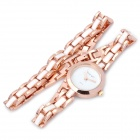 Fashion Decorative Rose Gold Quartz Wrist Watch - Golden (1 x 377 Battery)