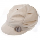 Fashion Crumple Designed Cap Hat for Women - Light Khaki