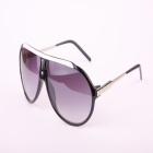 Fashion UV400 Protection PC Lens Sunglasses - Black + Gray