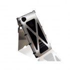 Protective Flip-Open Stainless Steel Holder Case for iPhone 4 / 4S - Silver