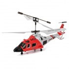 Mini Rechargeable 3-CH IR R/C Helicopter w/ Gyroscope - Red + White