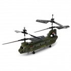 Mini Rechargeable 3-CH IR R/C Control Military Helicopter with Gyroscope - Army Green