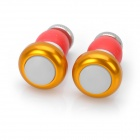 Bicycle Handlebar Bar End Red Light 2-Mode LED Warning Safety Light - Golden (2 x CR2032 / Pair)