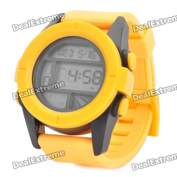 Sports Silicone LED Digital Wrist Watch - Yellow (1 x CR2025)