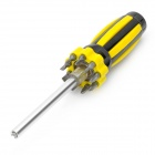 10-in-1 Precision Screw Drivers Toolkit with 9-LED White Light - Black + Yellow