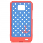 Dot Pattern Protective PC Back Case for Samsung i9100 - Blue