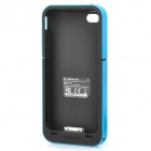 MOPHIE 2000mAh External Battery Back Case for iPhone 4 / 4S - Black + Blue