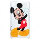 Cute Mickey Mouse Pattern Protective Plastic Back Case for iPod Touch 4 - White + Black + Red