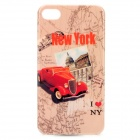 Protective Plastic Case for iPhone 4 / iPhone 4S - Red + Grey