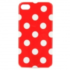 Protective Plastic Case for iPhone 4 / 4S - Red + White