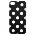 Black and White Pionts ABS Back Cover Case for iPhone 4 / 4S