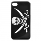 Pirate Pattern ABS Back Case for Iphone 4 / 4S - Black