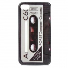 Magnetic Tape Pattern Protective Plastic Case for Iphone 4 / 4S - Red + Grey