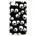 Cool Skull Pattern Protective Plastic Case for Iphone 4 / 4S - White + Black