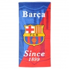 Barcelona Football Soccer Club Logo Cotton Bath Towel - Blue + Red + White